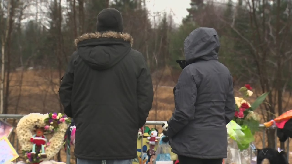 Mourners visit a memorial for Cedrika Provencher, who went missing eight years ago and whose remains were found last week.
