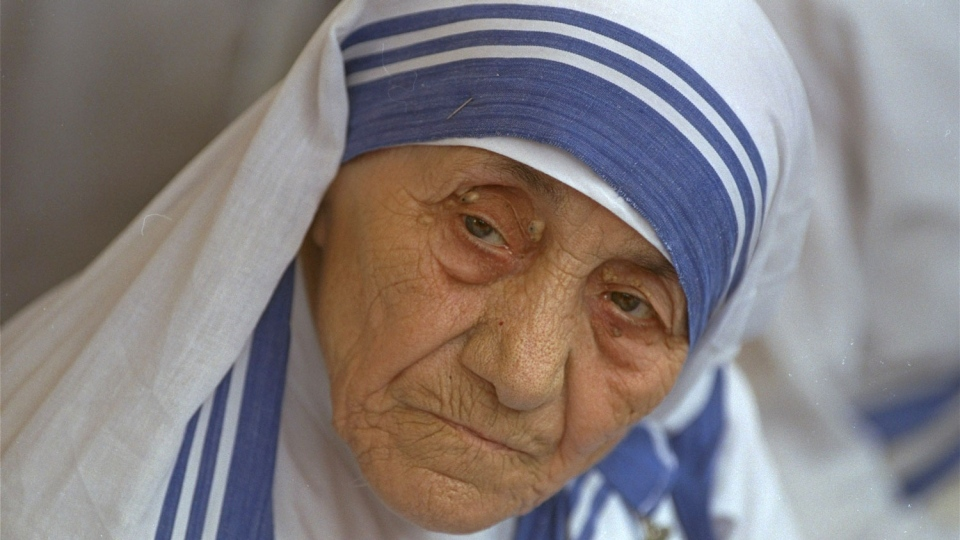 In this Aug. 25, 1993 file photo Mother Teresa is photographed, in New Delhi, India. (AP Photo, file)