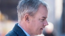 Dennis Oland heads arrives at the Law Courts as his murder trial continues in Saint John, N.B. on Tuesday, Nov. 10, 2015. (Andrew Vaughan / THE CANADIAN PRESS)