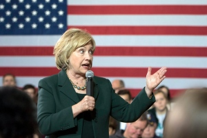 In this Dec. 16, 2015, photo, Democratic presidential candidate Hillary Clinton speaks at a campaign event at the Old Brick Church in Iowa City, Iowa. (AP/Scott Morgan, File)