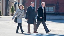 Dennis Oland, wife Lisa and lawyer Bill Teed