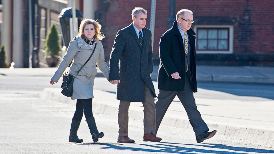 Dennis Oland, wife Lisa and lawyer Bill Teed