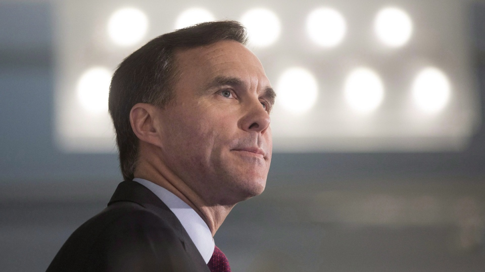 Federal Finance Minister Bill Morneau in Toronto, on Dec. 14, 2015.(Chris Young / THE CANADIAN PRESS)
