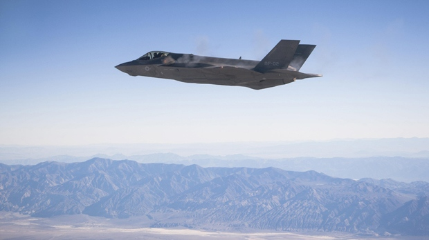 A US Air Force F-35 fighter jet fires gun. (Photo by USAF/REX Shutterstock)
