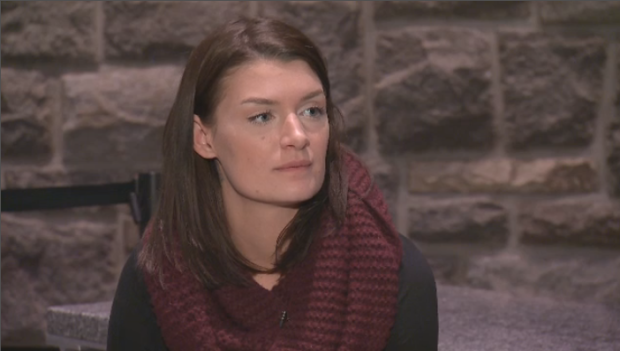 Katie Nelson says police pushed her