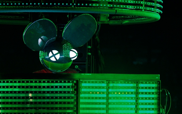 Joel Thomas Zimmerman, better known by his stage name deadmau5 performs at the Bonnaroo Music and Arts Festival on June 13, 2015 in Manchester, Tenn. (Wade Payne / Invision / AP)