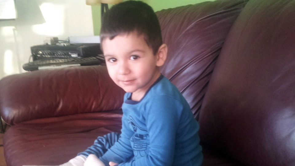 Geo Mounsef, 2, is shown in this handout photo from The Canadian Press.