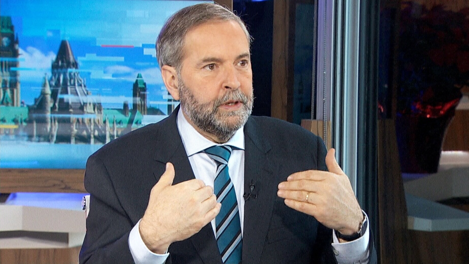 NDP Leader Tom Mulcair speaks to CTV Power Play about the 2015 federal election, on Wednesday, Dec. 23, 2015.