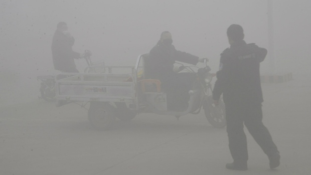 Pollution in the Chinese city of Handan