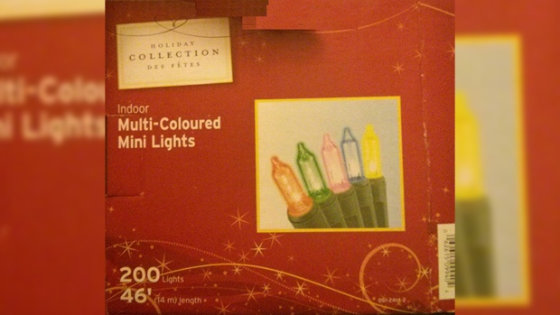 Holiday lights recall