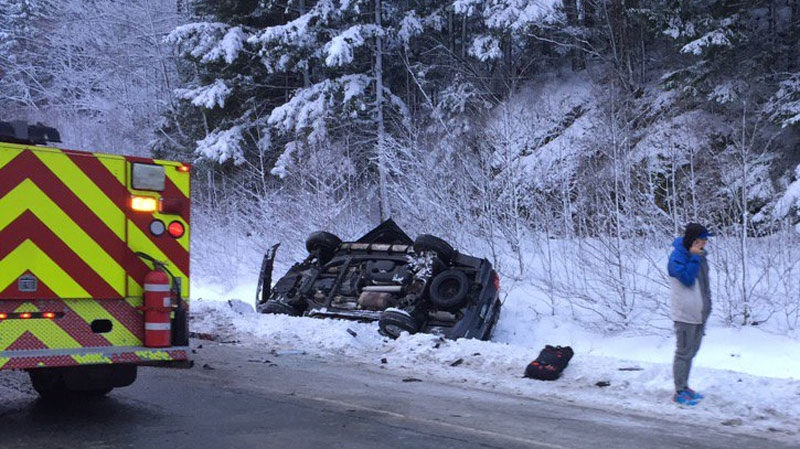 caution urged after second bad crash on sea to sky highway. Black Bedroom Furniture Sets. Home Design Ideas