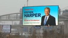 Harper billboard