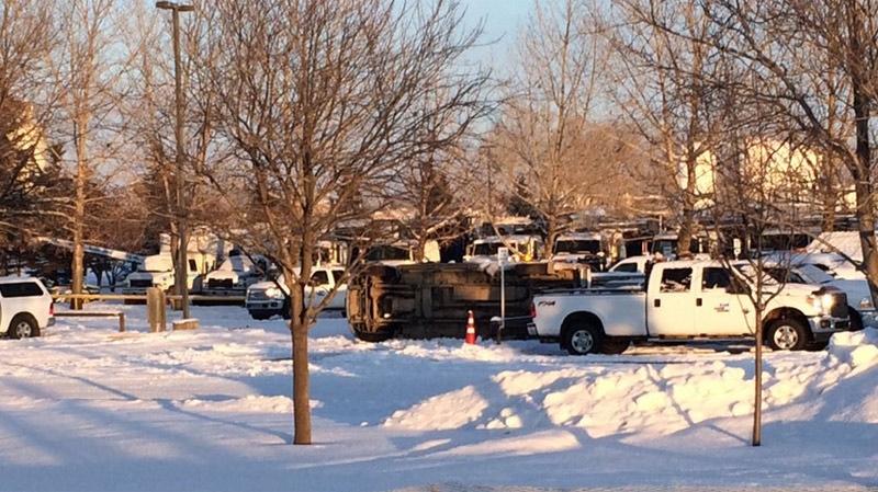 Scene of Red Deer police incident