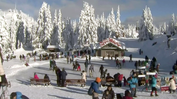 Grouse Mountain Covered In Snow On Christmas Day