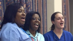 A scene from the National Health Service Choir single video.