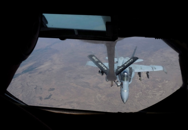U.S. fighter jet over Iraq