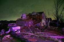 Tornado damage in Texas