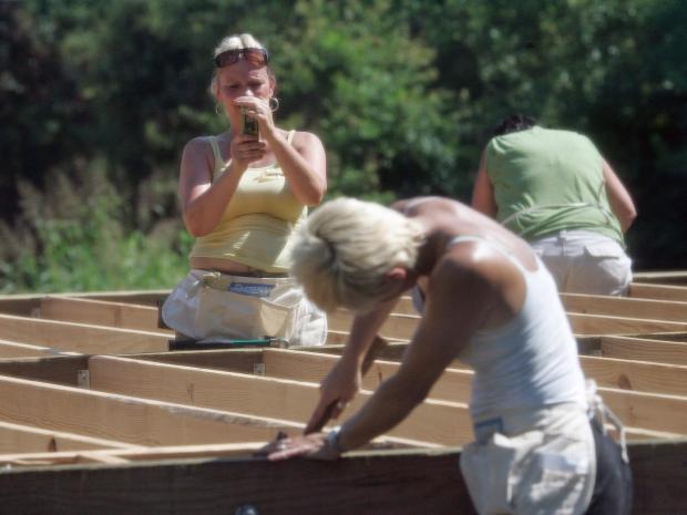 Habitat Humanity construction near New Orleans