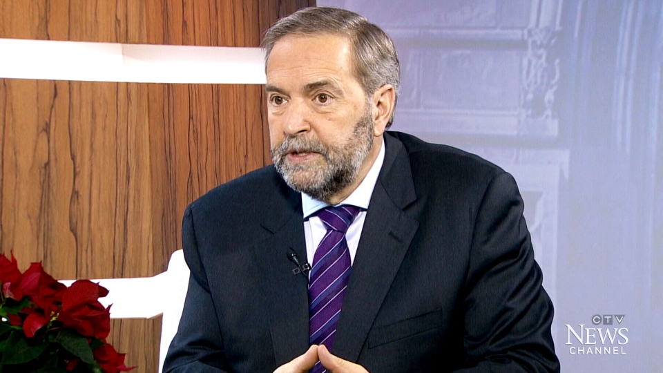 NDP Leader Thomas Mulcair speaks to CTV's Question Period.