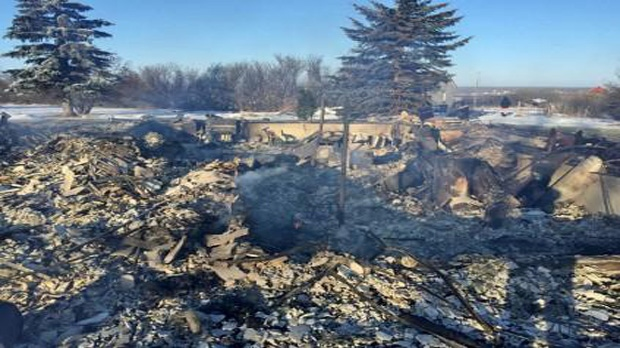 Family home destroyed in Vonda