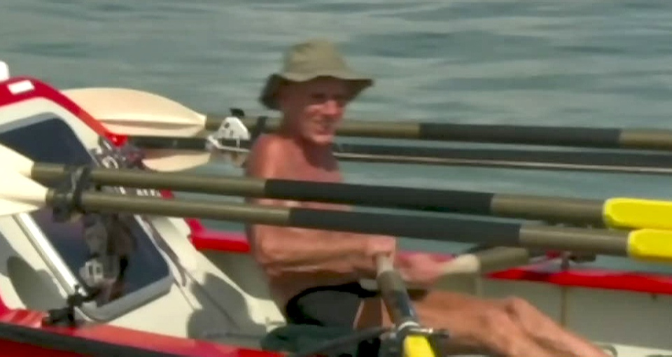John Beeden has rowed by himself across the Pacific Ocean, taking 209 days to make the crossing in his six metre boat 'Socks II.'
