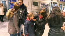 Syrian refugee family arrives in Montreal