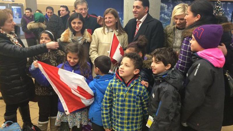 Refugees arrive in Edmonton