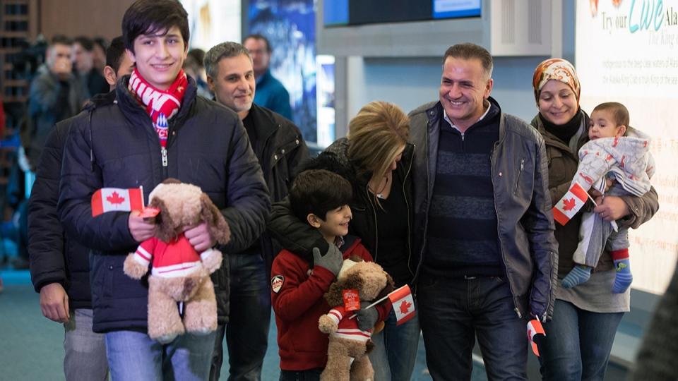 Kurdi family arrives at a B.C. airport