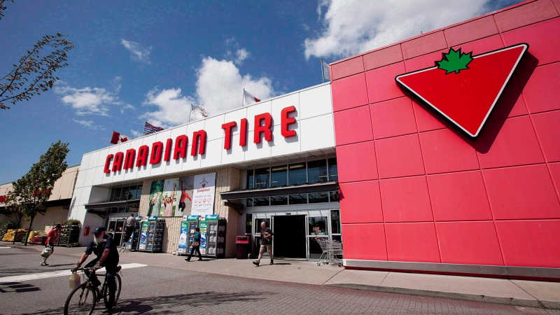 A Canadian Tire store is photographed in North Vancouver, B.C., on May 10, 2012. (THE CANADIAN PRESS/Jonathan Hayward)