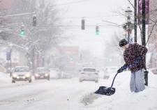 Winter storm in Fredericton, N.B.