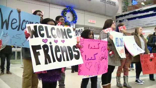 Syrian refugee arrival