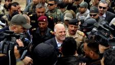 Iraqi Prime Minister Haider al-Abadi in Ramadi