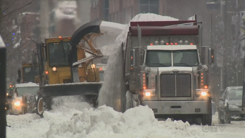 Montreal executive committee member Jean-Francois Parenteau announced Tuesday that the city's first snow-clearing operation will begin at 7 a.m. Wednesday. (File photo)