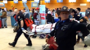 Extended: Passengers taken out of airport