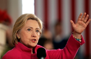 In this Dec. 29, 2015 file photo, Democratic presidential candidate Hillary Clinton speaks during a campaign event at South Church in Portsmouth, N.H. (AP / Steven Senne)
