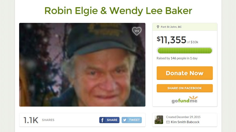 A GoFundMe page has been set up for the victims of the attack, identified as Robin Elgie and Wendy Lee Baker. (GoFundMe.com)