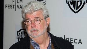 In this April 17, 2015 file photo, George Lucas attends the Tribeca Talks: Director Series during the Tribeca Film Festival at the BMCC Tribeca Performing Arts Center, in New York.  (Photo by Charles Sykes/Invision/AP, File)