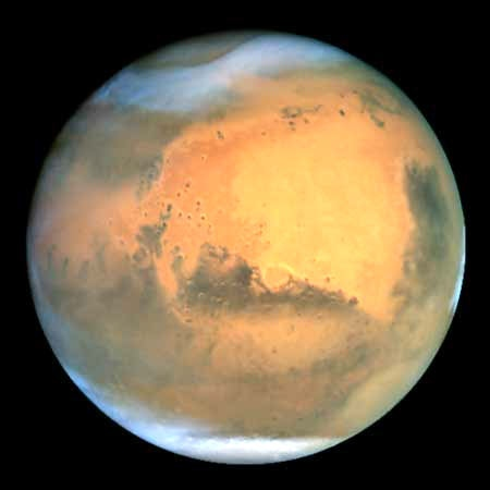 Mars is seen in this image taken by the Hubble Space Telescope (NASA / Hubble Heritage Team / STScI / AURA)