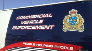 A Waterloo Regional Police commercial vehicle enforcement branch vehicle is pictured in Kitchener on Thursday, Aug. 13, 2015. (Brian Dunseith / CTV Kitchener)