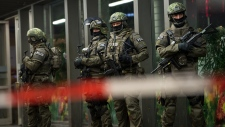 German special police on guard in Munich