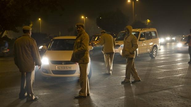 Policemen in New Delhi