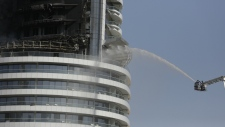 Firefighters fight blaze in Dubai