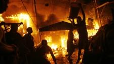 Firecrackers spark blaze in Manila