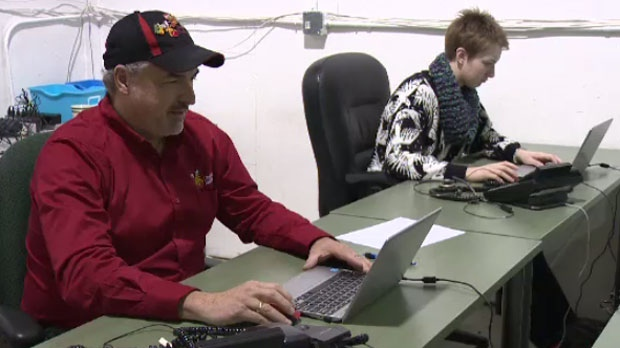 More than 1,400 calls were answered with help from about 800 volunteers.