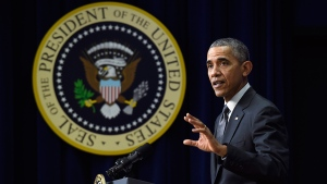 U.S. President Barack Obama speaks in Washington, Thursday, Dec. 10, 2015. (AP / Susan Walsh)