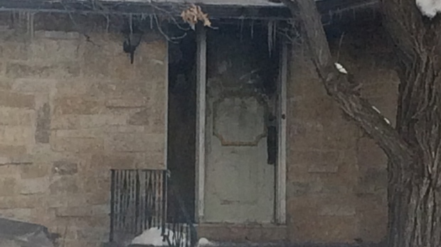 An elderly woman died after a house fire in Stony Mountain on New Year's Day.