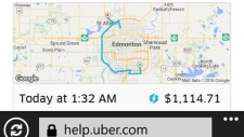 Man charged $1,100 for Uber ride