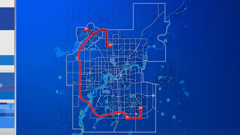 The Uber route that cost an Edmonton man $1,100 on New Year's Eve.