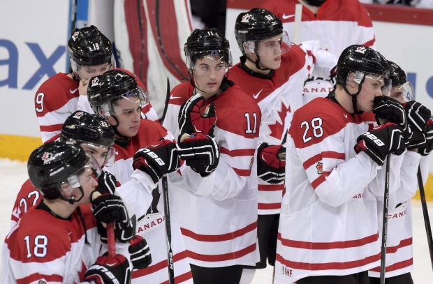 Canadian players lose to Finland