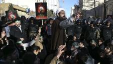 Protesters outside Saudi Arabia embassy in Iran
